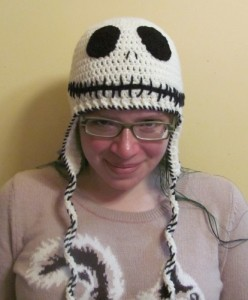 Nightmare Before Christmas Crochet Beanie