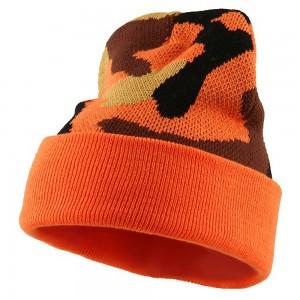 Orange Camouflage Beanie