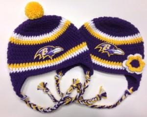 Ravens Beanie Crochet
