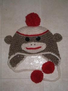 Sock Monkey Beanie Crochet Pattern