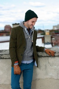 Teal Beanie Outfit