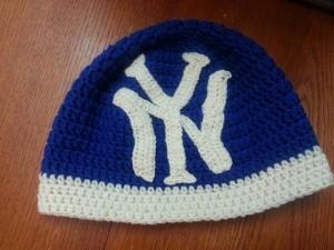 Yankees Crochet Beanie