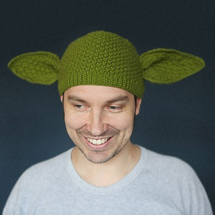 Yoda Ears Hat Knitting Pattern Game